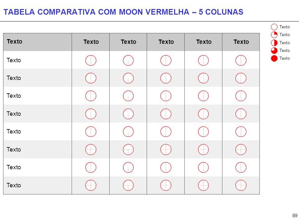 TABELA COMPARATIVA COM MOON CINZA – 9 COLUNAS