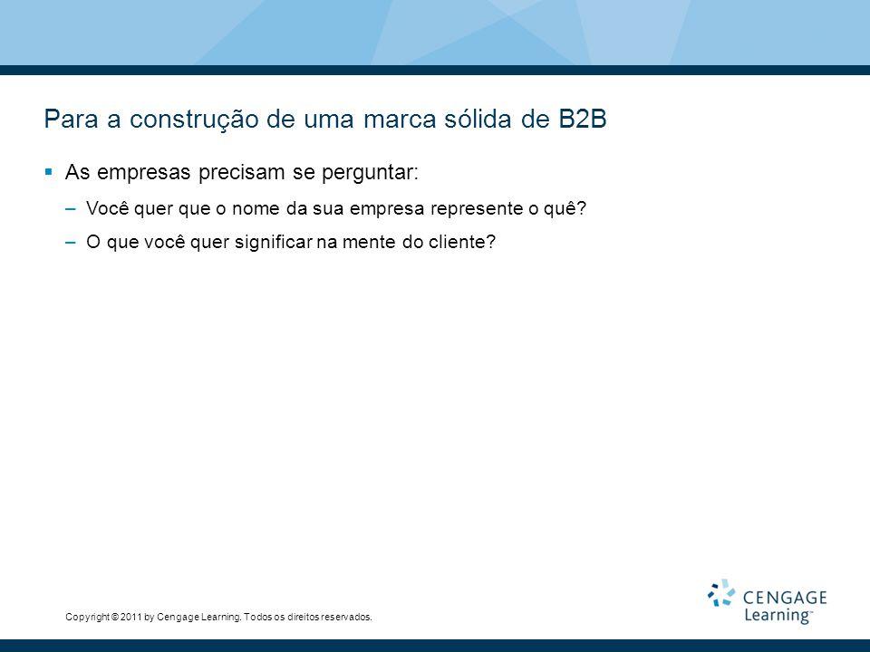 Para a construção de uma marca sólida de B2B