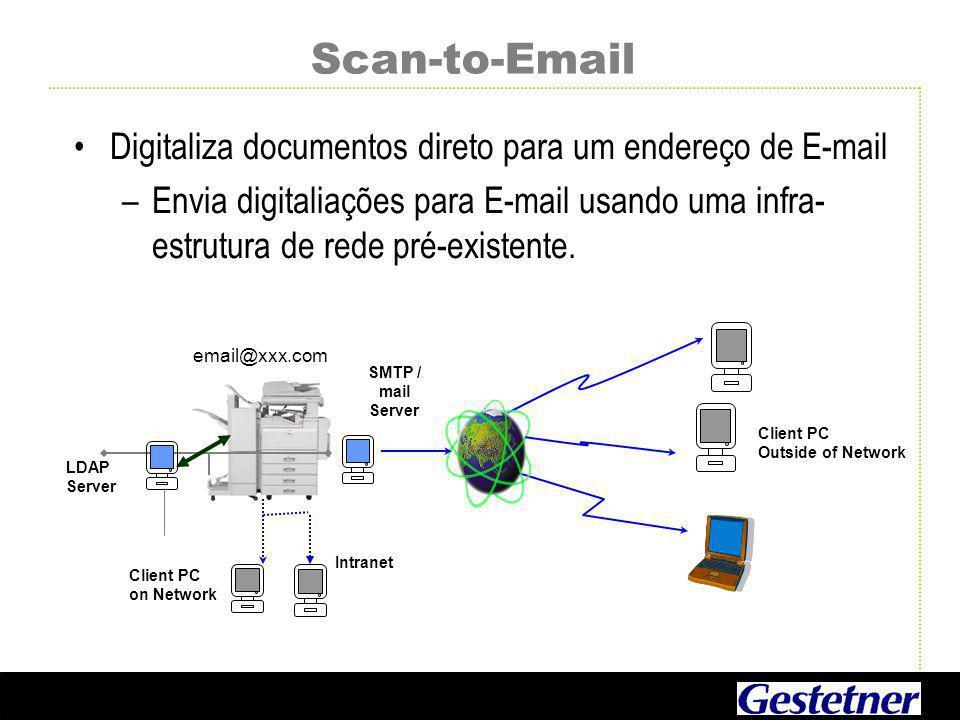 Scan-to-Email Digitaliza documentos direto para um endereço de E-mail