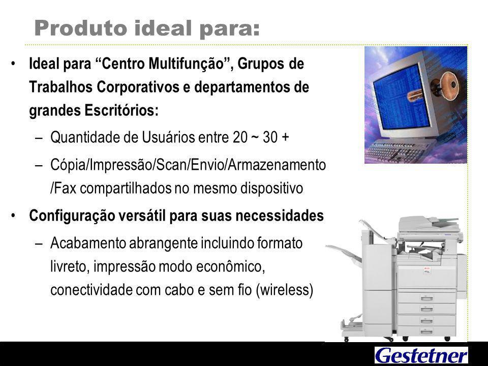 Produto ideal para: Ideal para Centro Multifunção , Grupos de Trabalhos Corporativos e departamentos de grandes Escritórios: