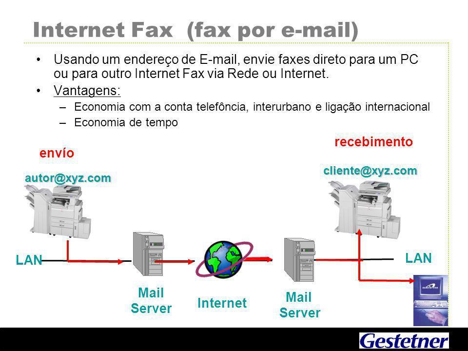 Internet Fax (fax por e-mail)
