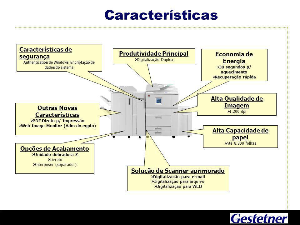Características Características de segurança Produtividade Principal