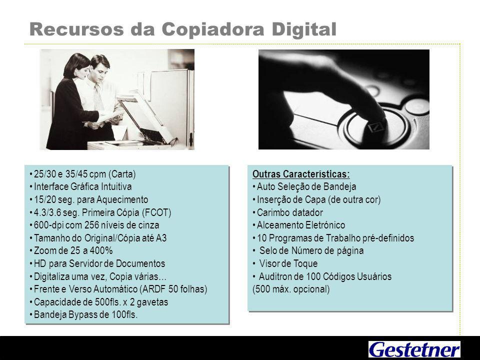 Recursos da Copiadora Digital