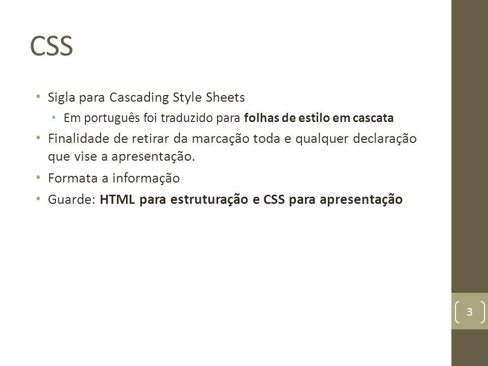 CSS Sigla para Cascading Style Sheets