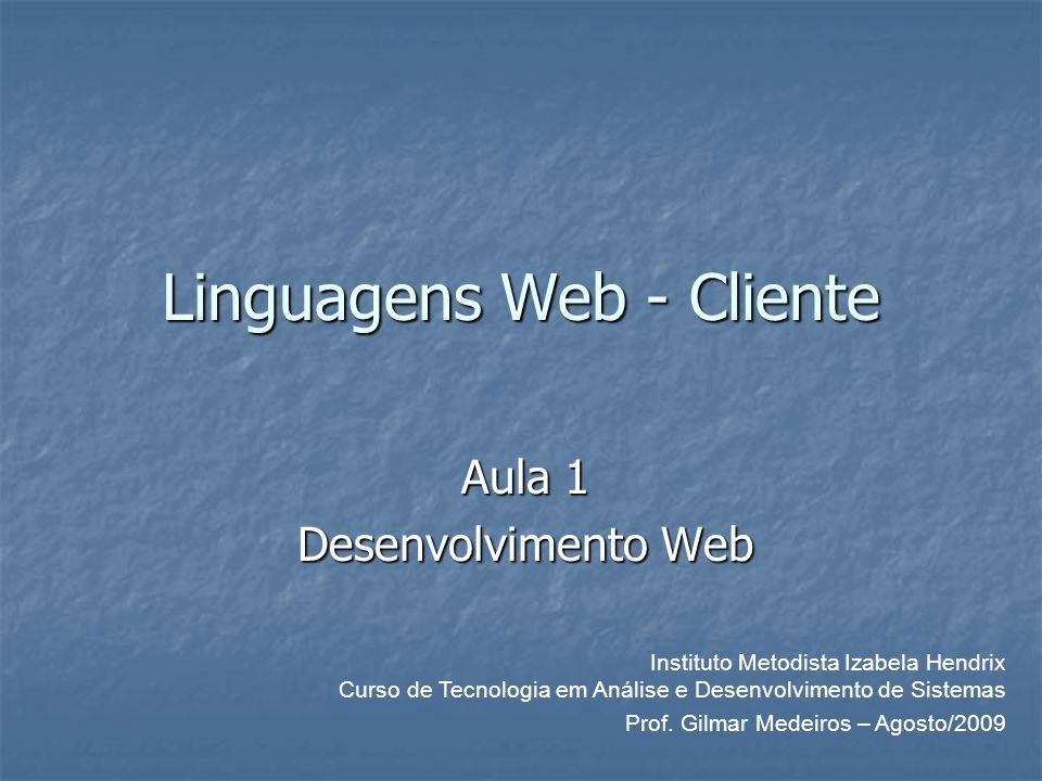 Linguagens Web - Cliente