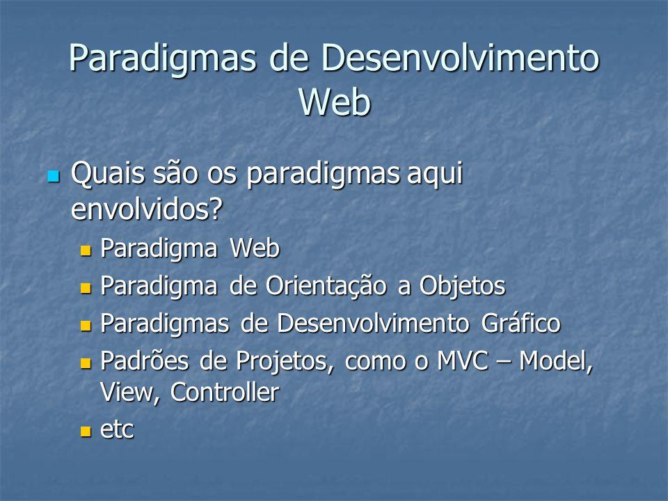 Paradigmas de Desenvolvimento Web