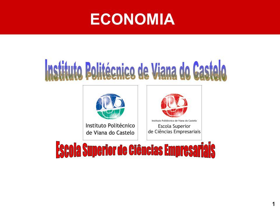 ECONOMIA Instituto Politécnico de Viana do Castelo