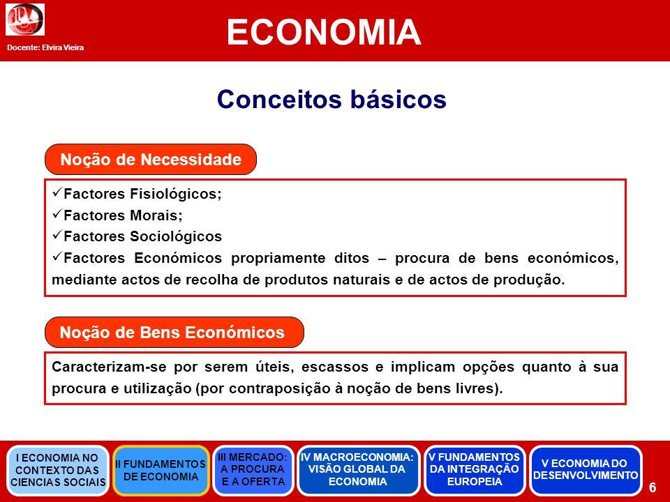 Noção de Bens Económicos
