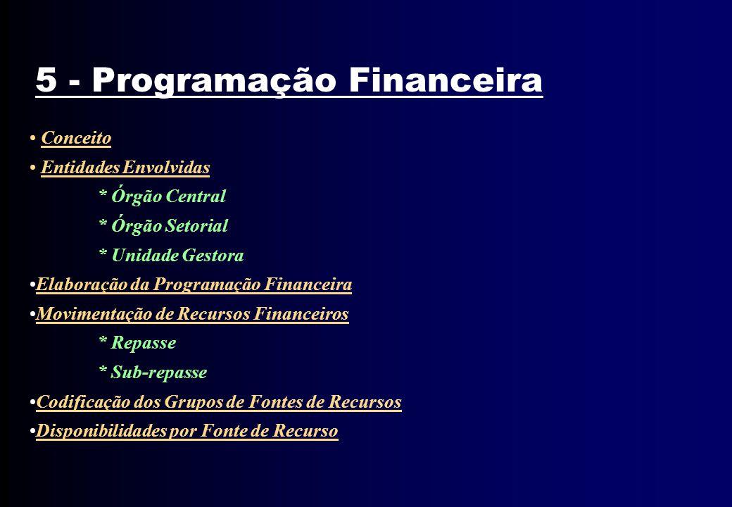 5 - Programação Financeira