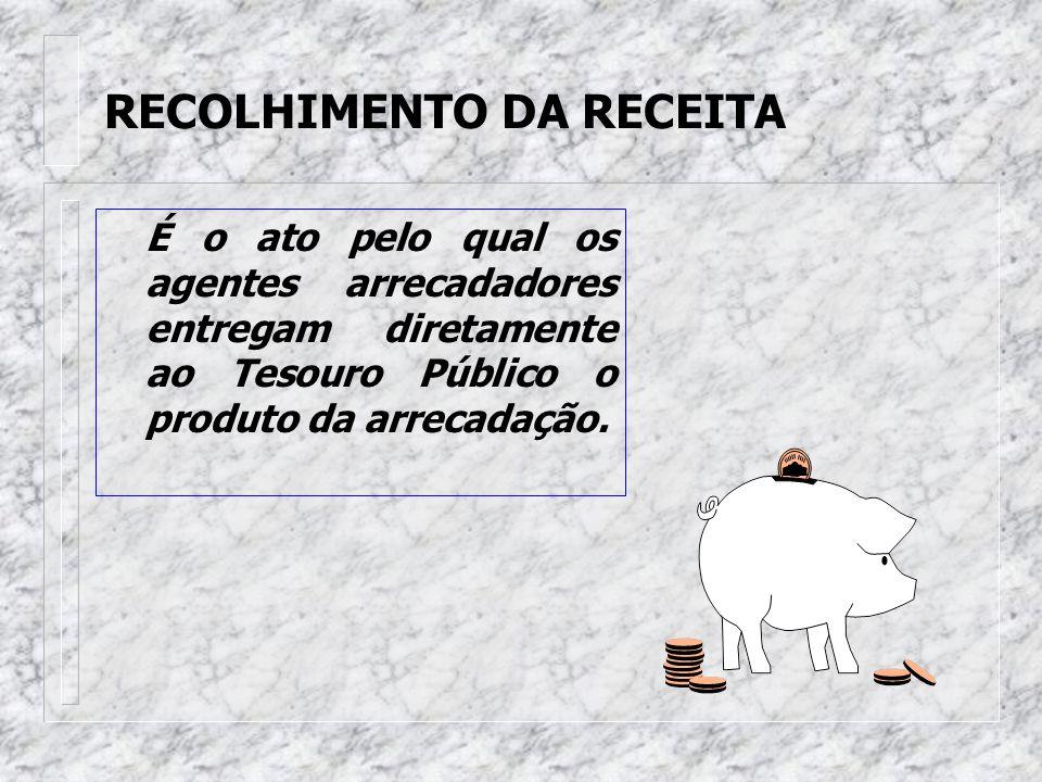 RECOLHIMENTO DA RECEITA