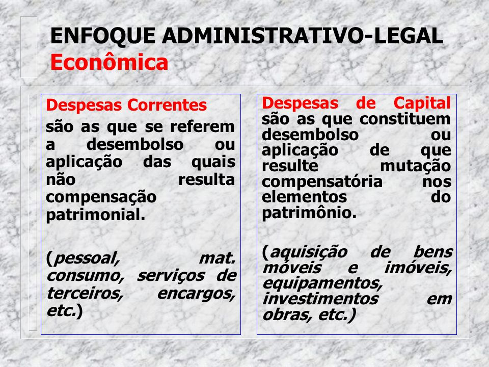 ENFOQUE ADMINISTRATIVO-LEGAL Econômica