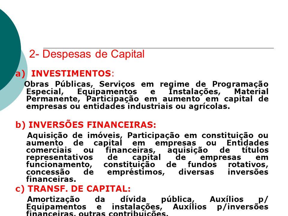 2- Despesas de Capital