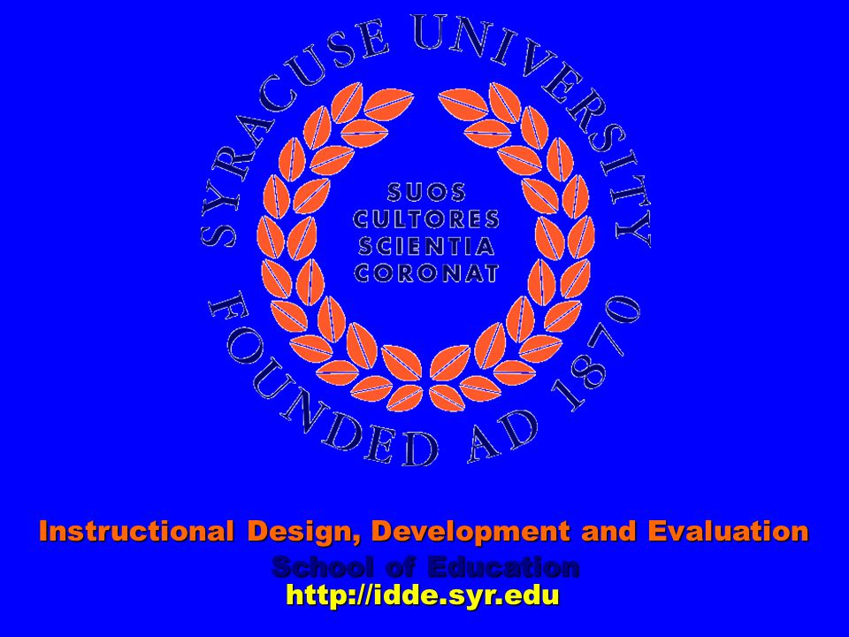 Instructional Design, Development and Evaluation
