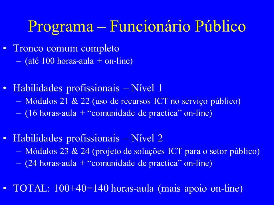 Programa – Funcionário Público