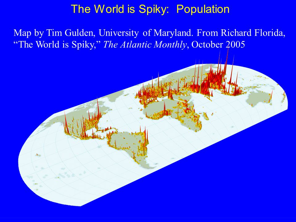 The World is Spiky: Population