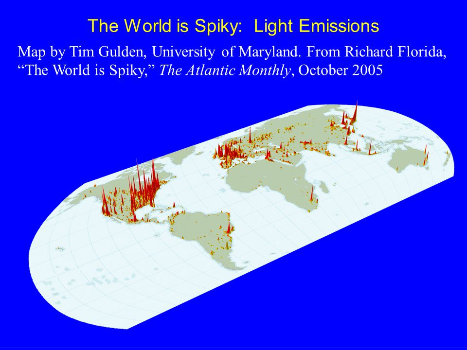 The World is Spiky: Light Emissions