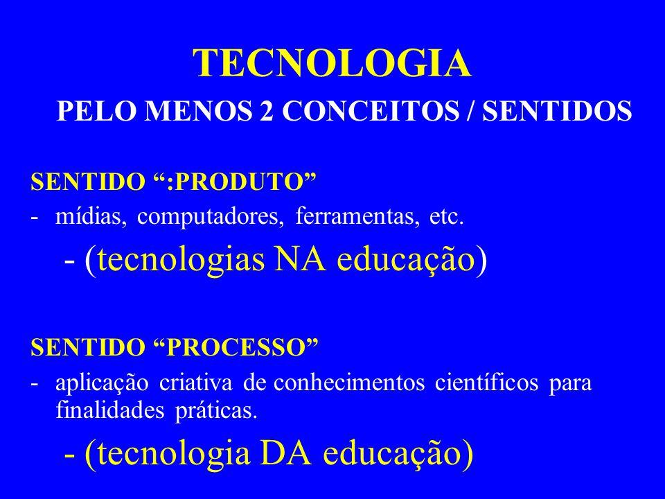 PELO MENOS 2 CONCEITOS / SENTIDOS