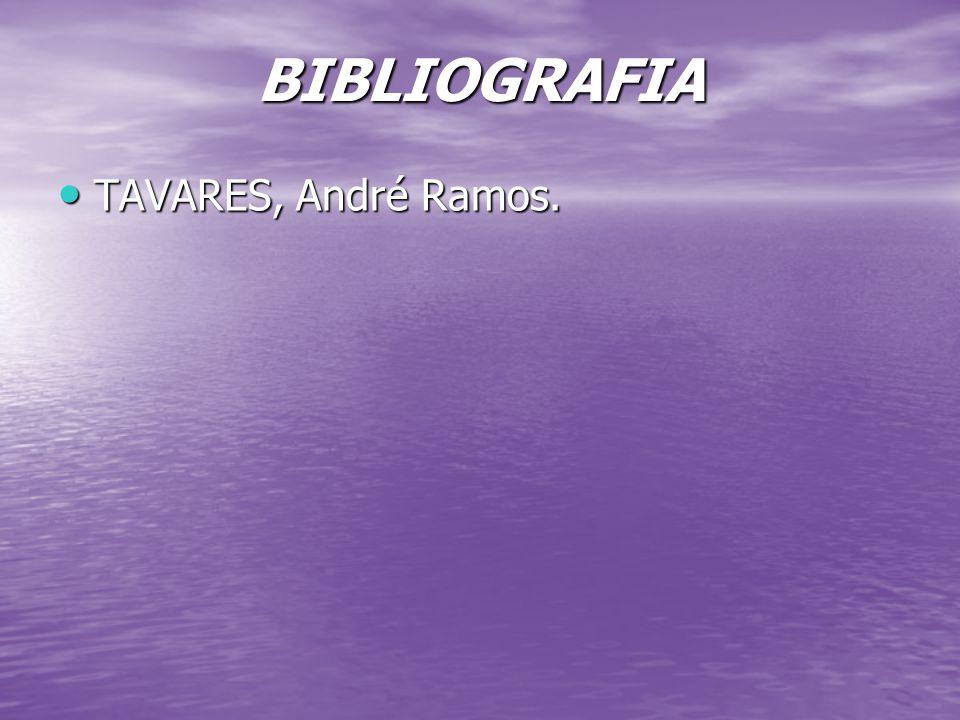 BIBLIOGRAFIA TAVARES, André Ramos.