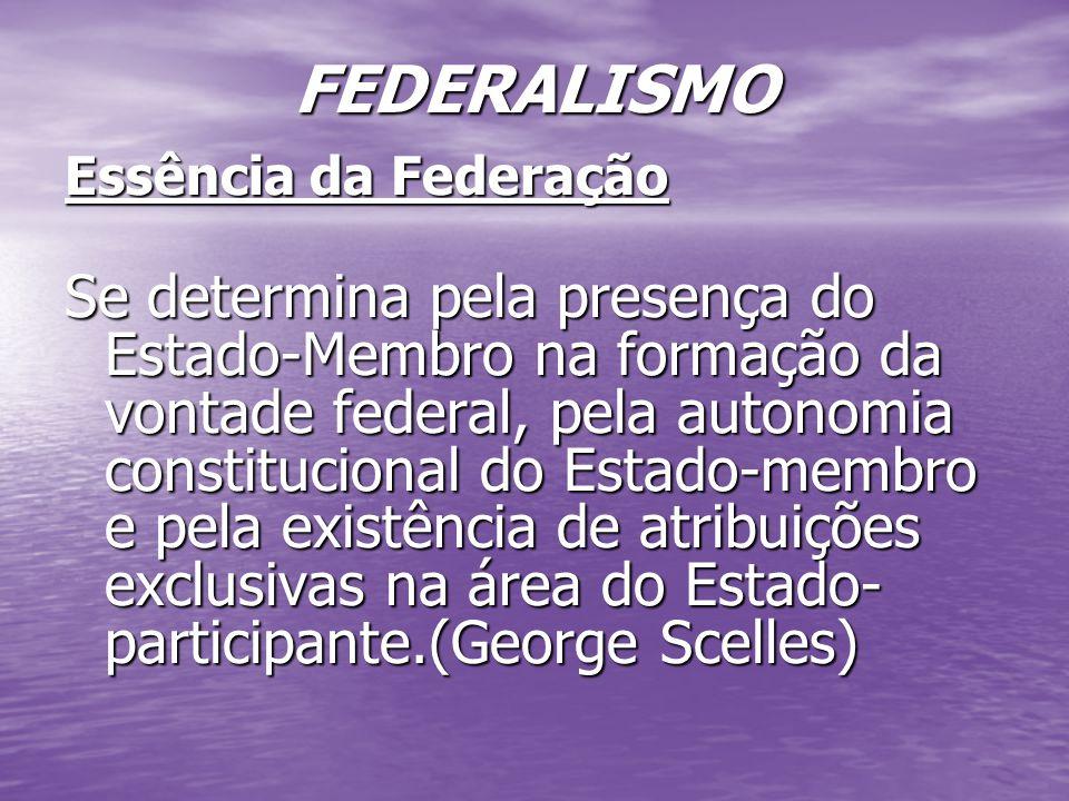 FEDERALISMO Essência da Federação.