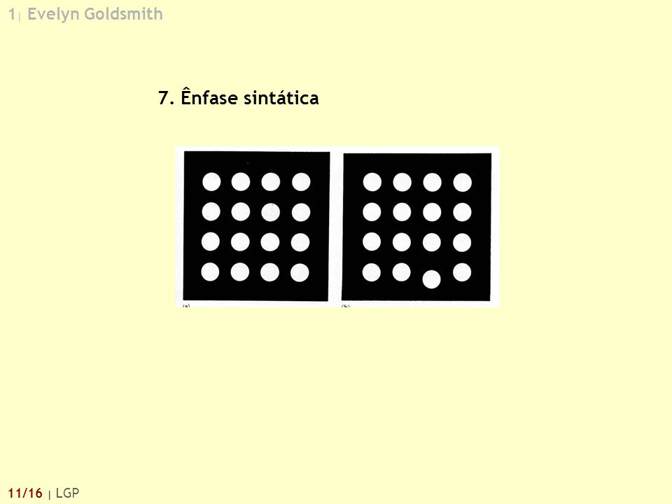 1| Evelyn Goldsmith 7. Ênfase sintática 11/16 | LGP