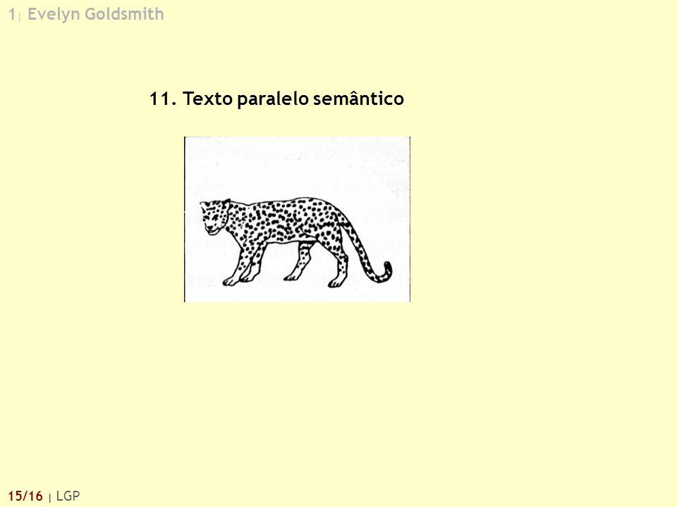 11. Texto paralelo semântico