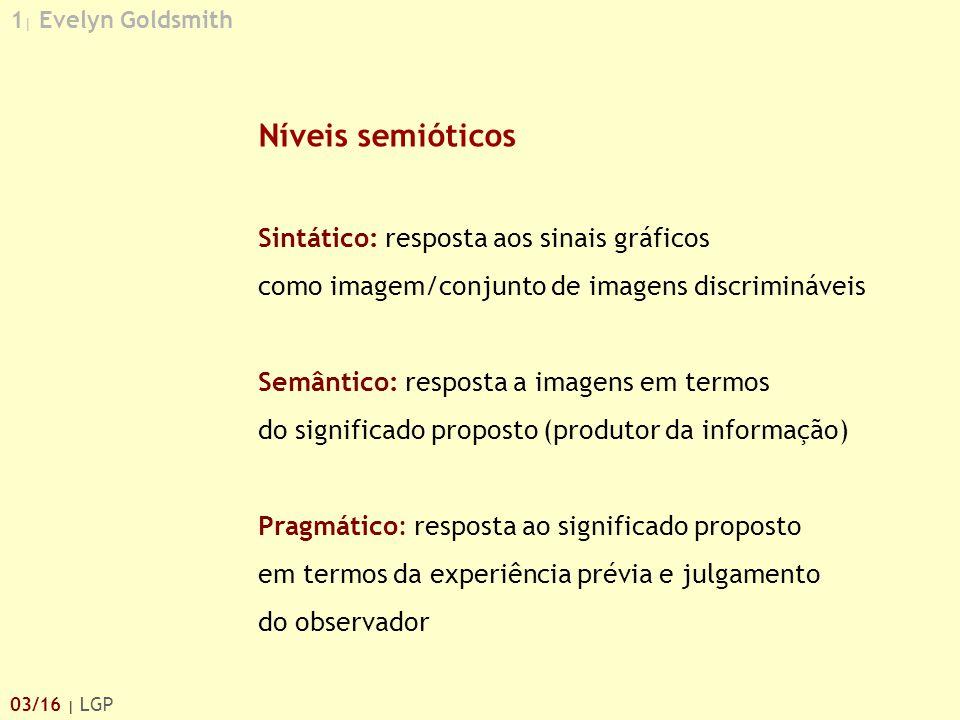 Níveis semióticos Sintático: resposta aos sinais gráficos