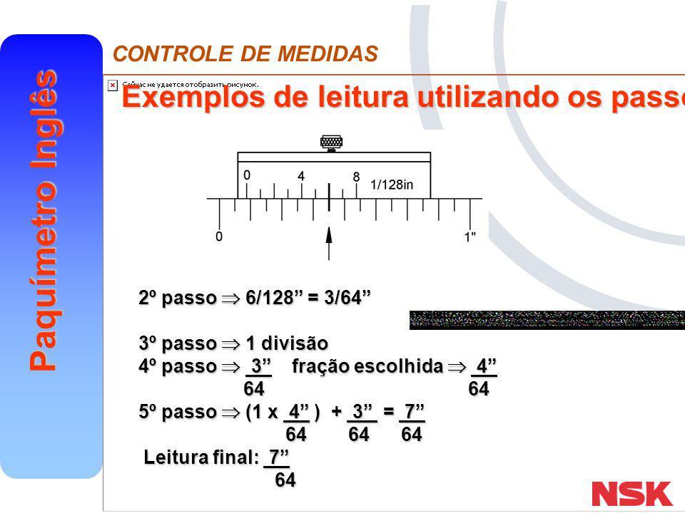 Exemplos de leitura utilizando os passos