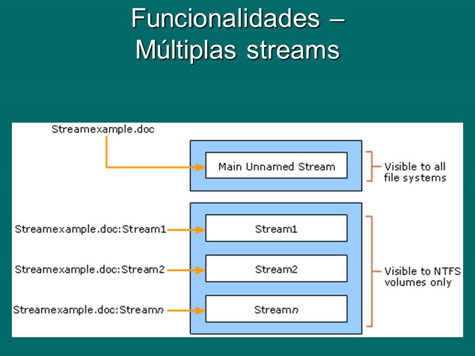 Funcionalidades – Múltiplas streams