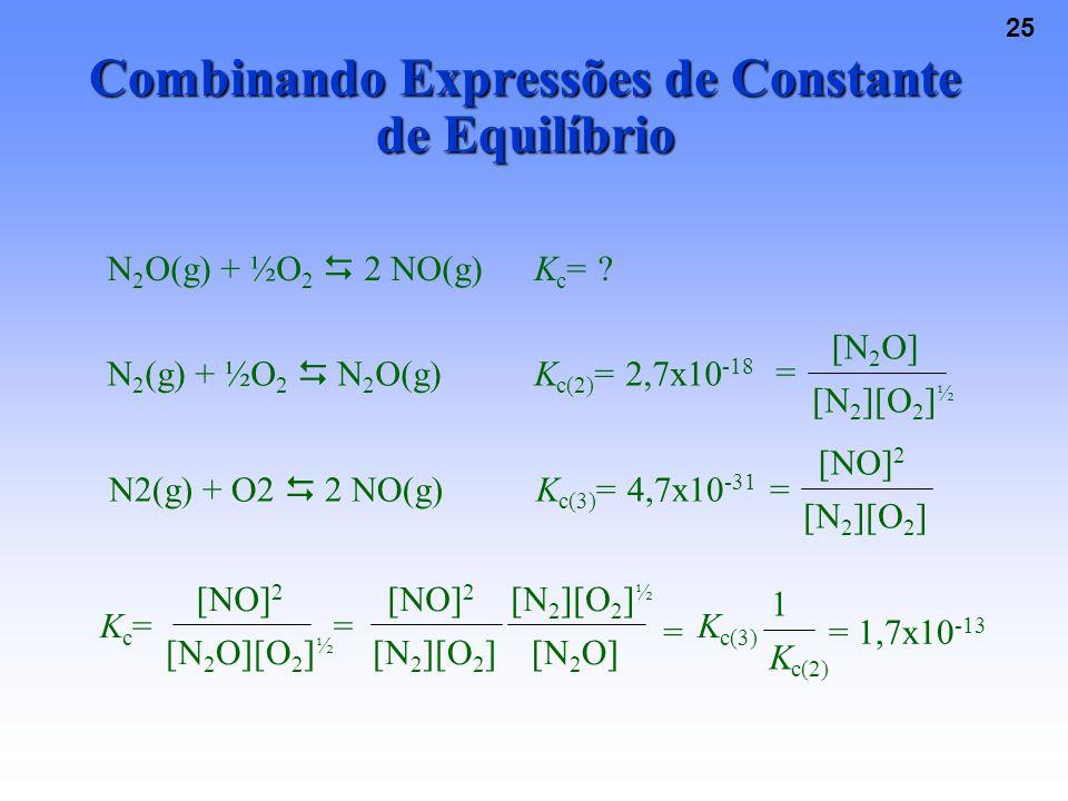 Combinando Expressões de Constante de Equilíbrio