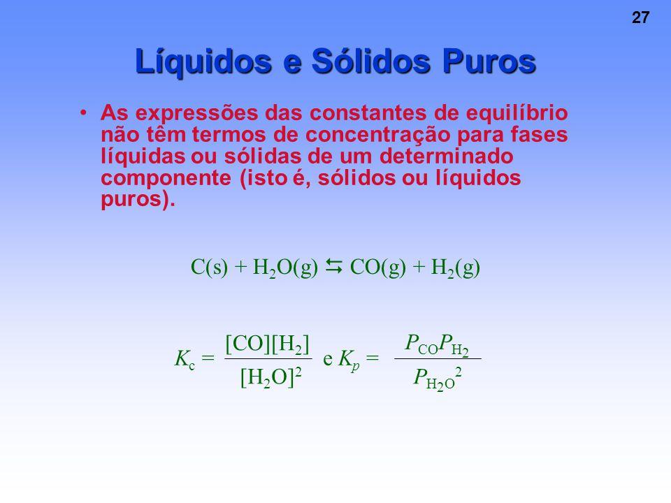 Líquidos e Sólidos Puros