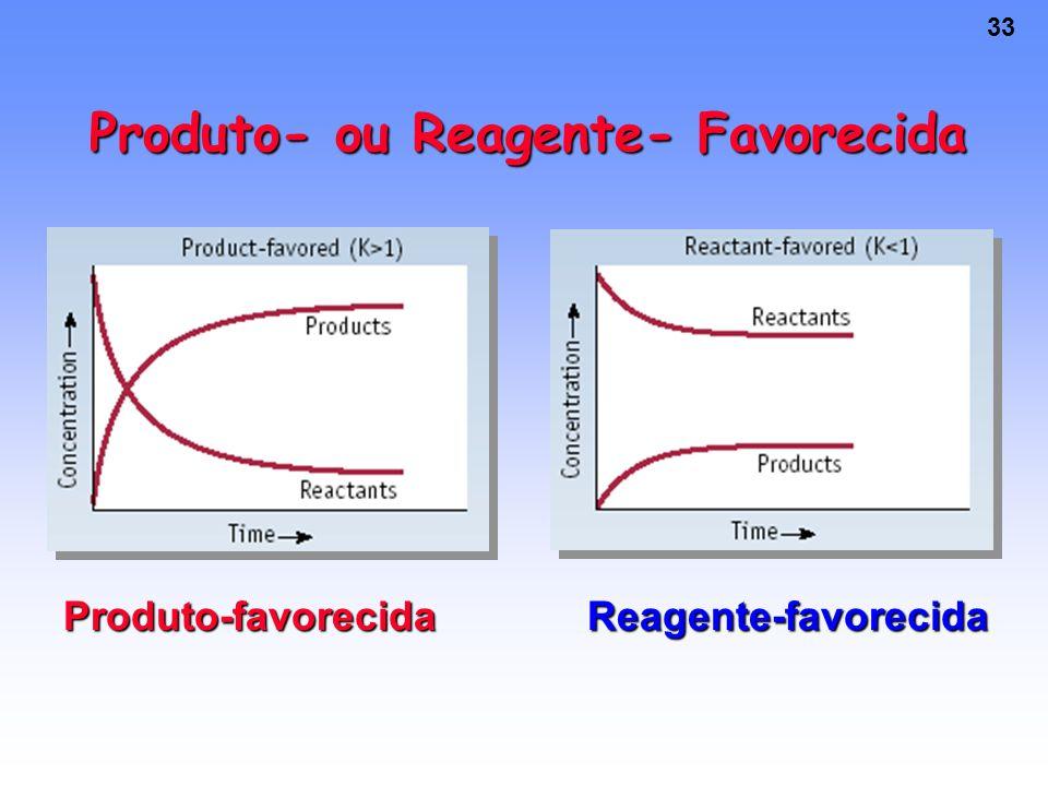 Produto- ou Reagente- Favorecida