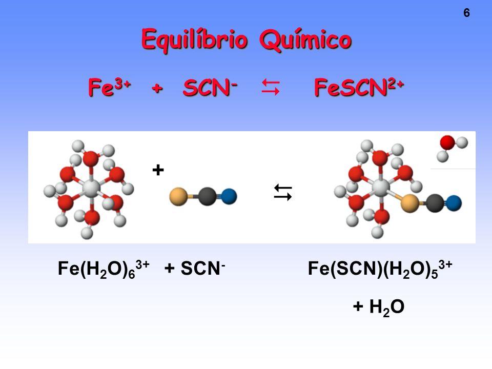 Equilíbrio Químico Fe3+ + SCN- FeSCN2+