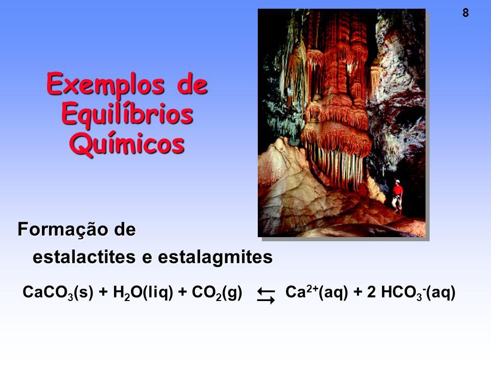 Exemplos de Equilíbrios Químicos