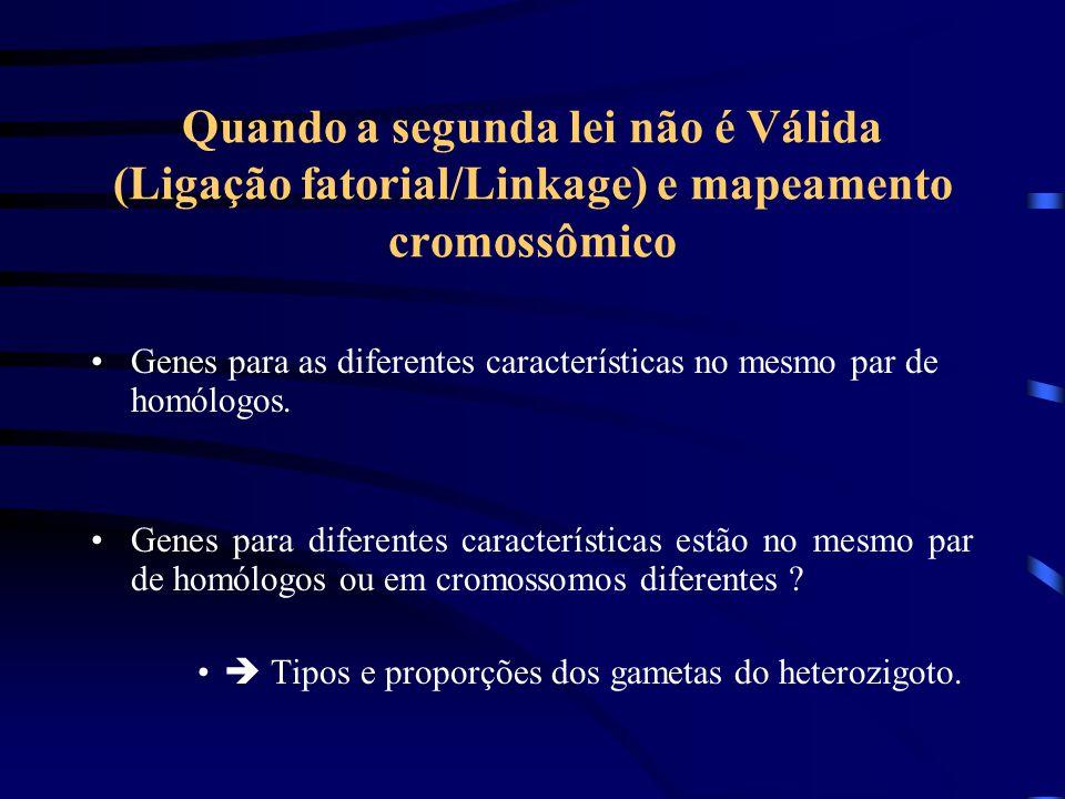 Quando a segunda lei não é Válida (Ligação fatorial/Linkage) e mapeamento cromossômico