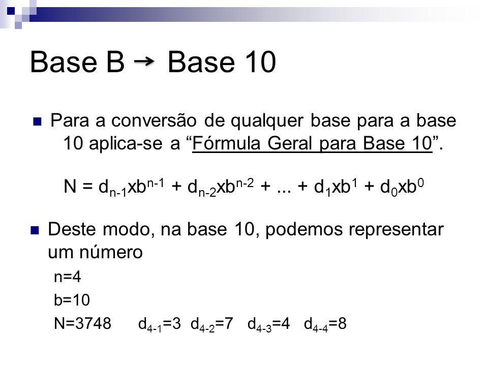 N = dn-1xbn-1 + dn-2xbn-2 + ... + d1xb1 + d0xb0