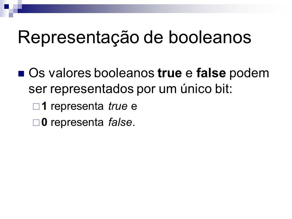 Representação de booleanos