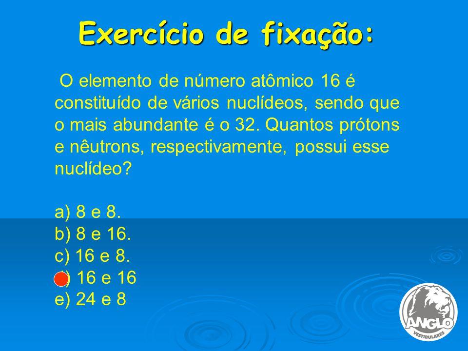 Exercício de fixação: