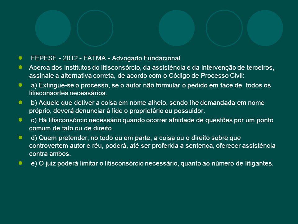FEPESE - 2012 - FATMA - Advogado Fundacional