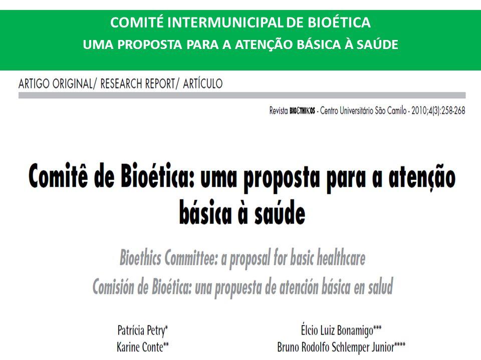 COMITÉ INTERMUNICIPAL DE BIOÉTICA