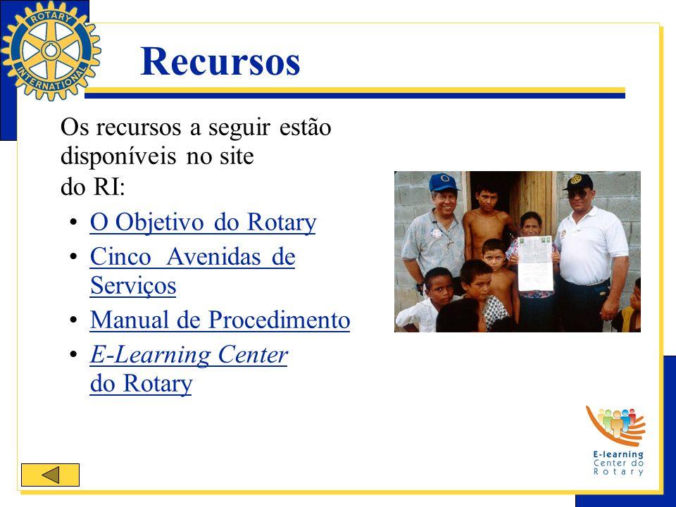Recursos Os recursos a seguir estão disponíveis no site do RI: