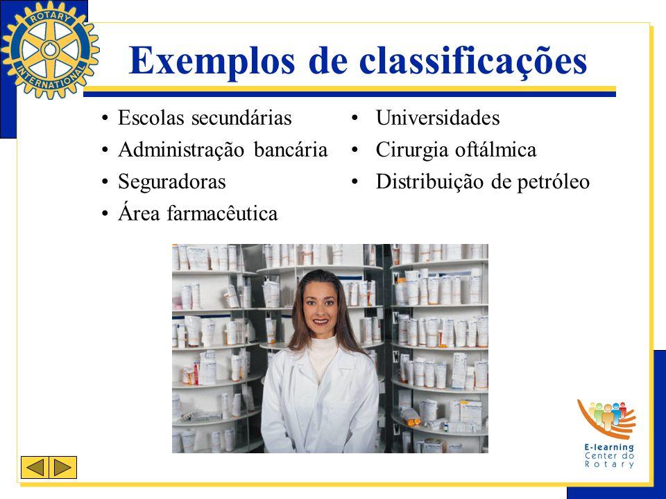 Exemplos de classificações