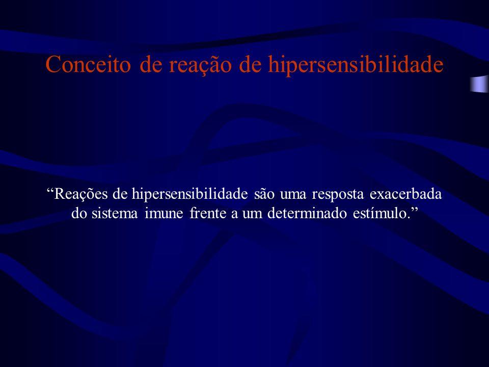 Conceito de reação de hipersensibilidade