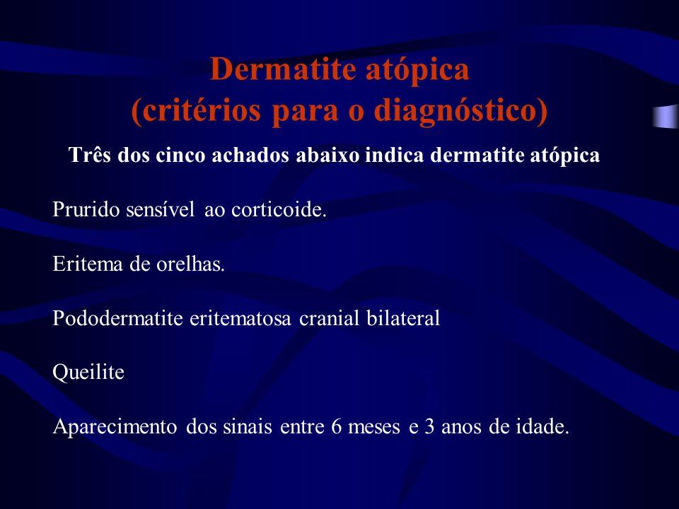 Dermatite atópica (critérios para o diagnóstico)