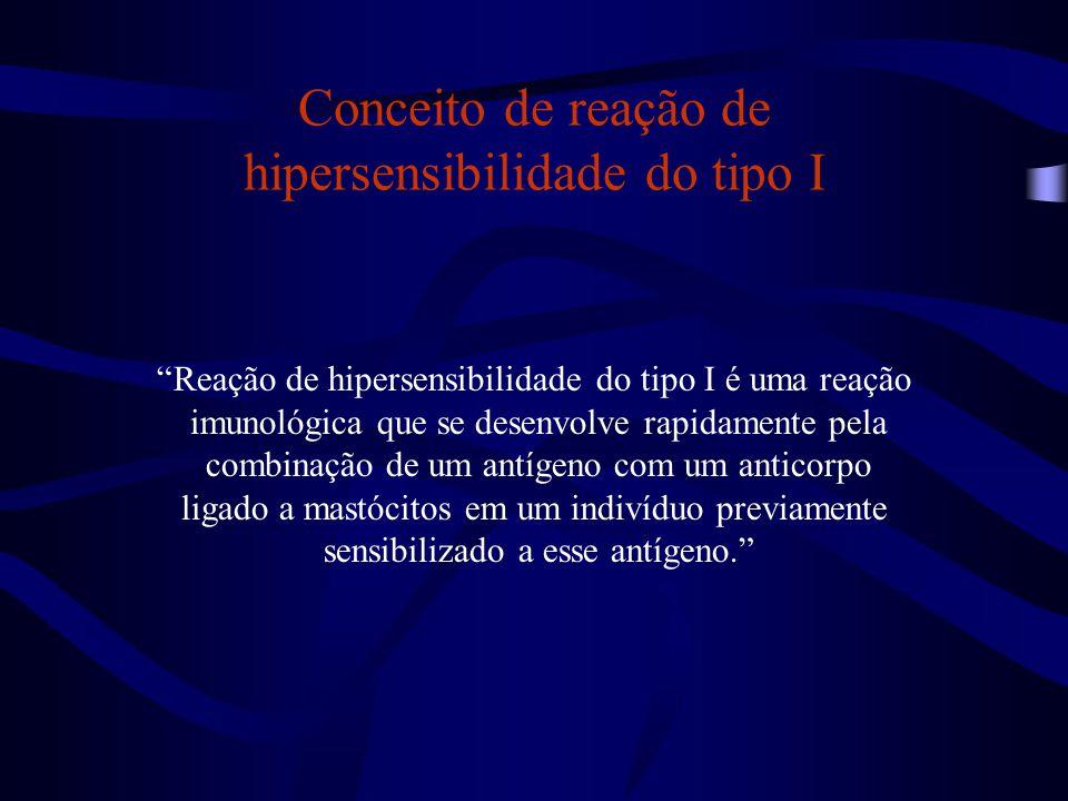 Conceito de reação de hipersensibilidade do tipo I