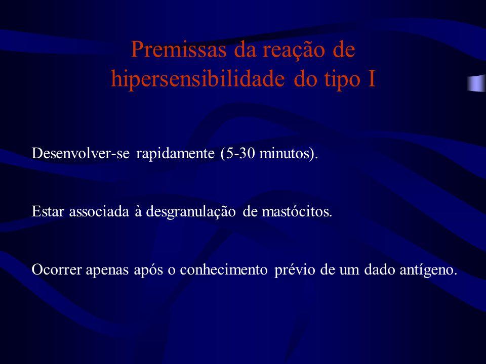 Premissas da reação de hipersensibilidade do tipo I