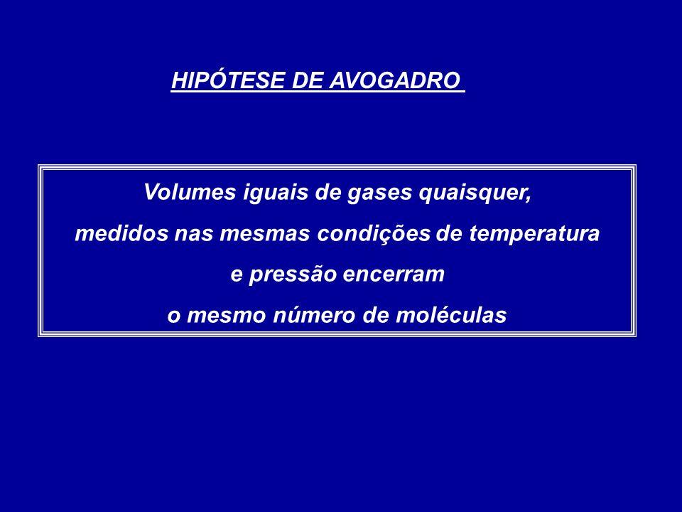 Volumes iguais de gases quaisquer,
