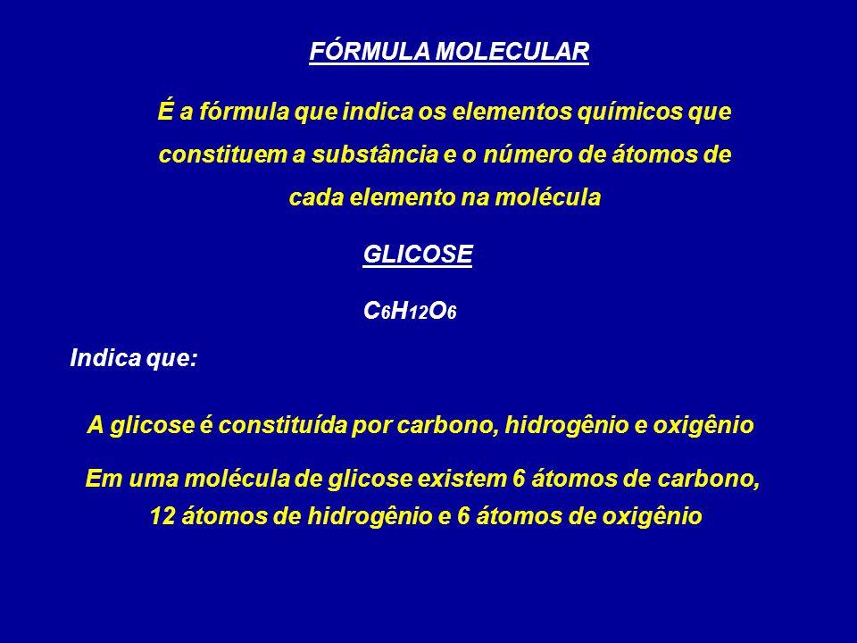 A glicose é constituída por carbono, hidrogênio e oxigênio