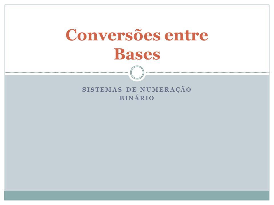 Conversões entre Bases