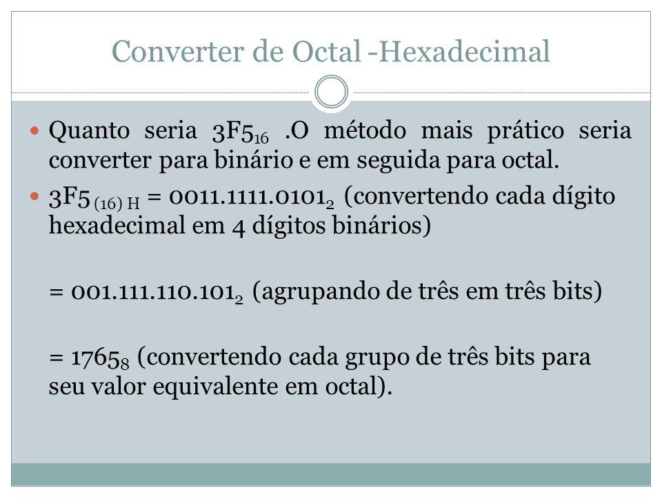Converter de Octal -Hexadecimal