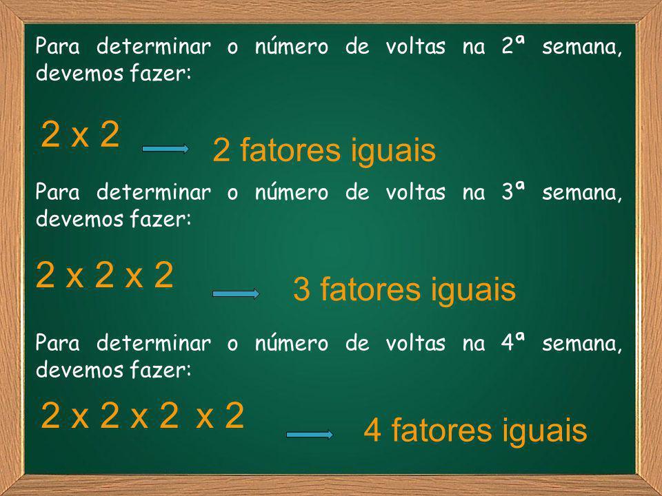 2 x 2 2 x 2 x 2 2 x 2 x 2 x 2 2 fatores iguais 3 fatores iguais